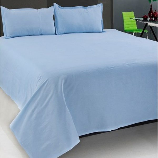 Merveilleux Plain Light Blue Bedsheet
