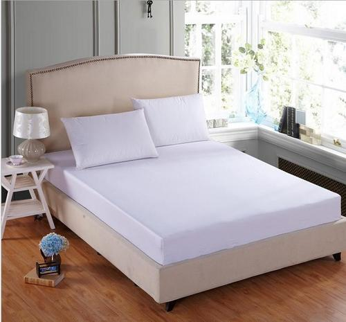 Surj Plain White King Size Bed Sheet Surj