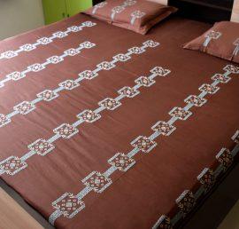 Surj Jharokhas Hand Embroidered Bedsheet