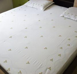 Surj Pastel Love Hand Embroidered Bedsheet