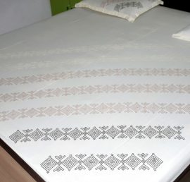 Surj Kasuti Diagonal (II) Hand Embroidered Bedsheet